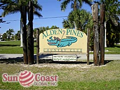 Alden Pines Community Sign