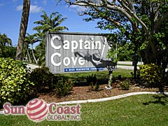 Captains Cove Community Sign