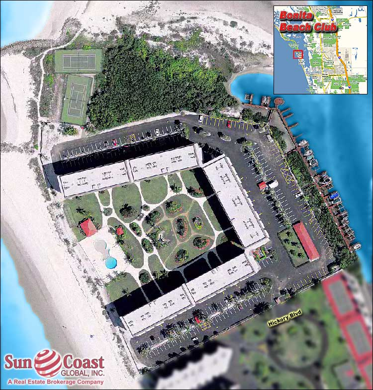 Bonita Beach Club Overhead Map
