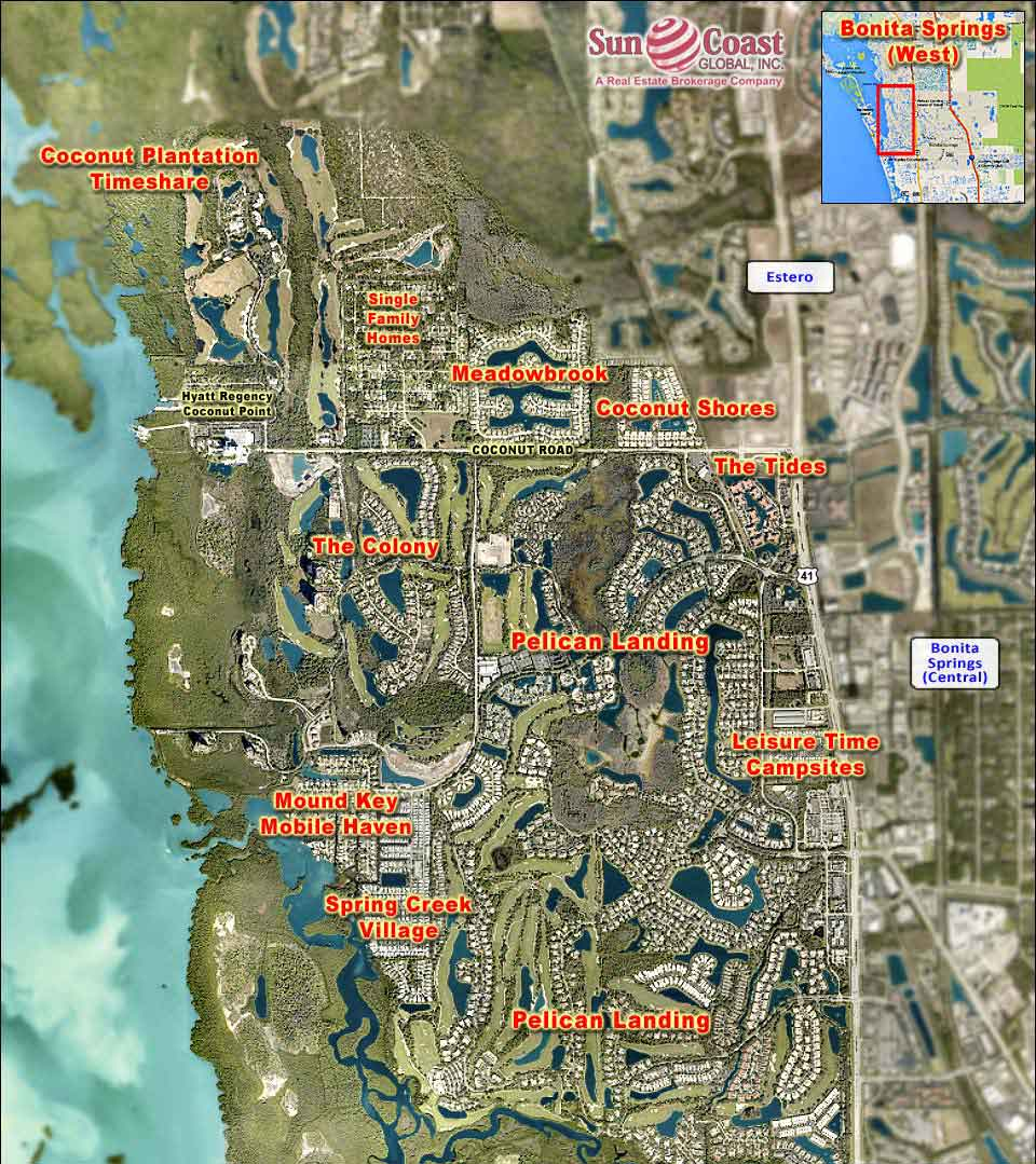 Bonita Springs West Overhead Map