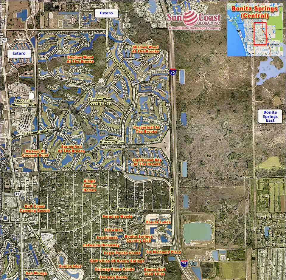 Bonita Springs Central Overhead Map