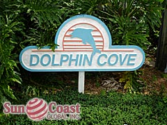 Dolphin Cove Community Sign