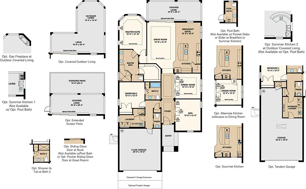 Farnese Floor Plan at Pebble Pointe At The Brooks, Bonita Springs by Taylor Morrison