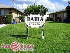 Bahia Condo Community Sign