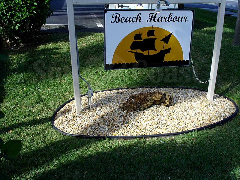 Beach Harbour Signage