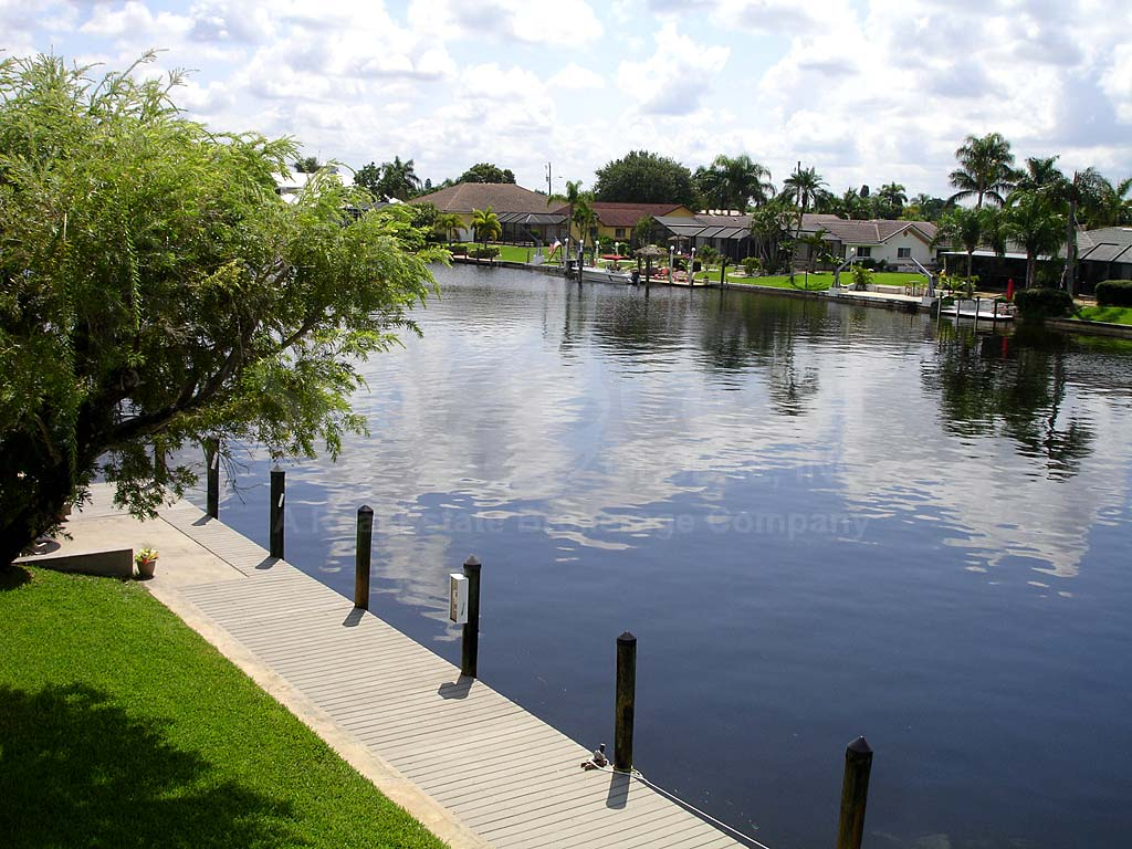 View Down the Canal From Bimini Apts