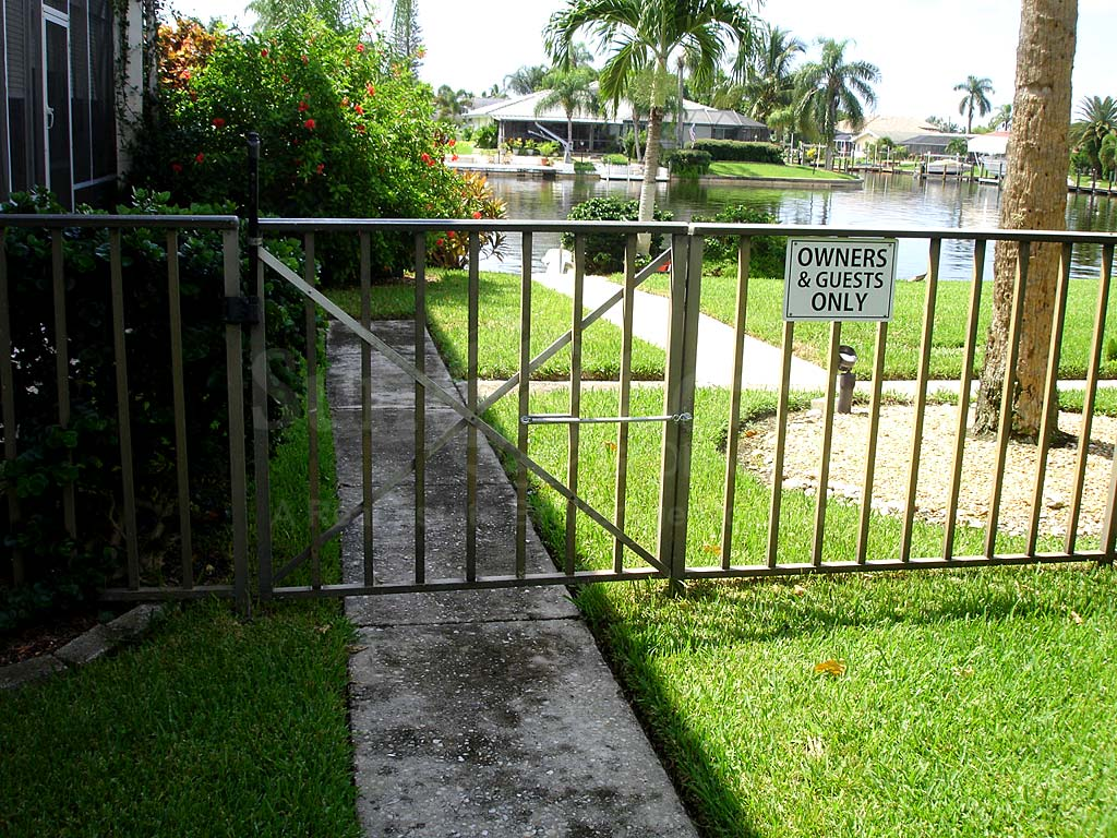 Bimini Apts Canal Safety Fence