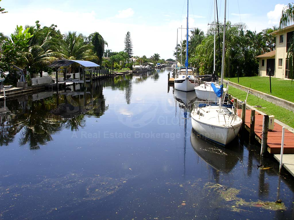 View Down the Canal From Bimini Basin Condos
