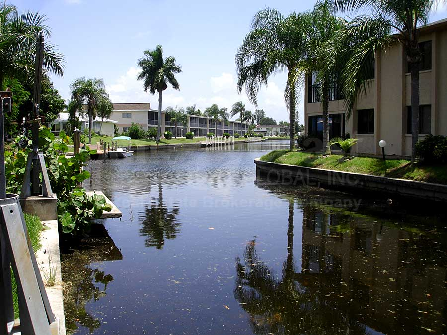 View Down the Canal From Bimini Gardens