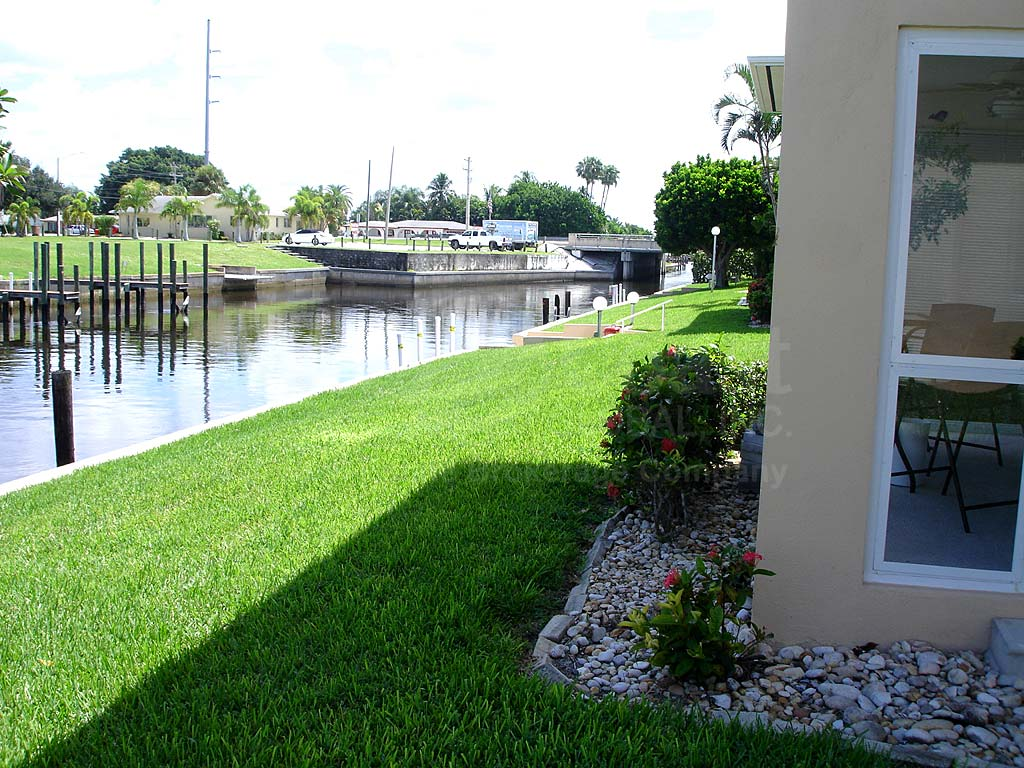 View Down the Canal From Cape Colony Condo