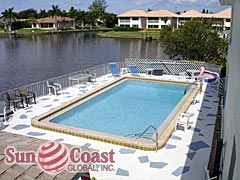 Coastal I Condos Community Pool and Canal