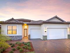 Lennar Model Home in Coral Lakes