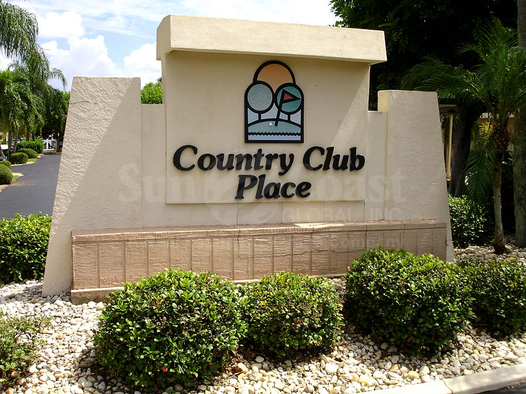 Country Club Place Signage