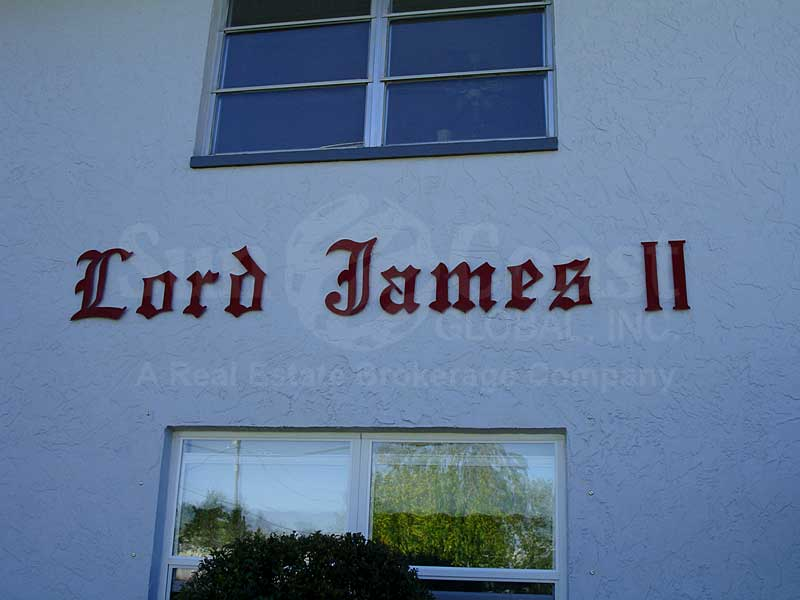 Lord James II Signage