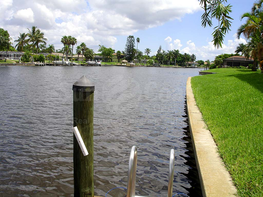 View Down the Canal From Ocean Isle Rubican