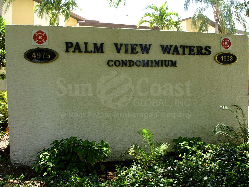 Palm View Waters Signage