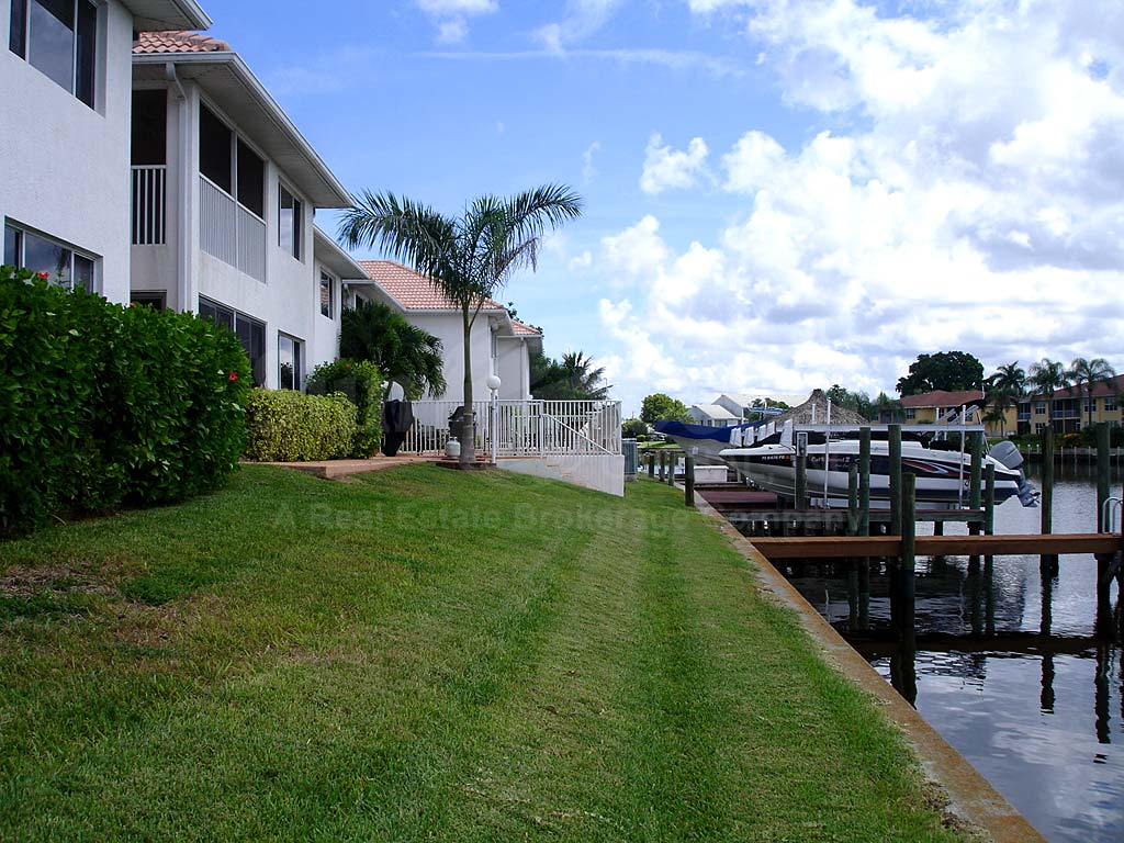 View Down the Canal From Palm Vista