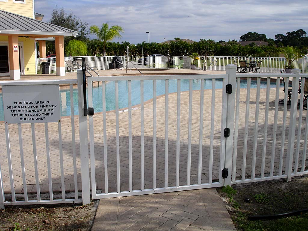 Pine Key Community Pool Safety Fence