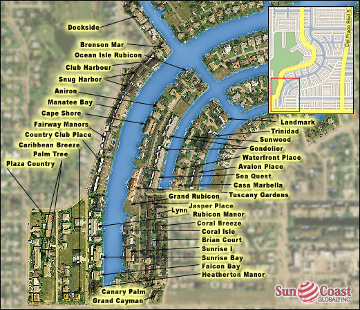 South Rubican Condos Map