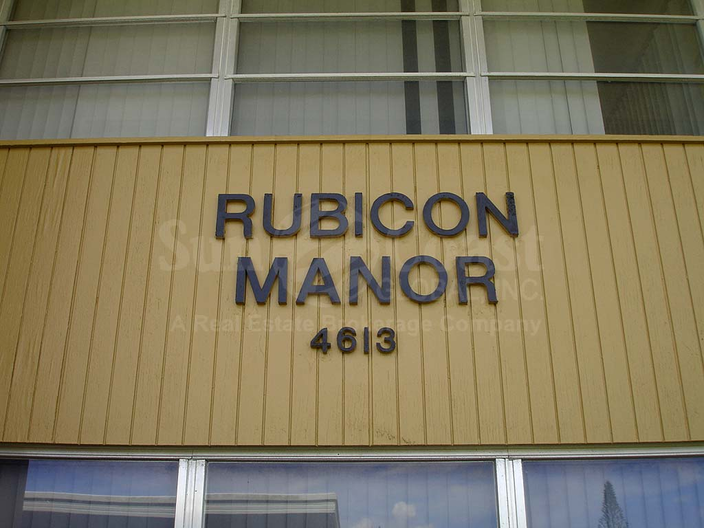 Rubicon Manor Signage