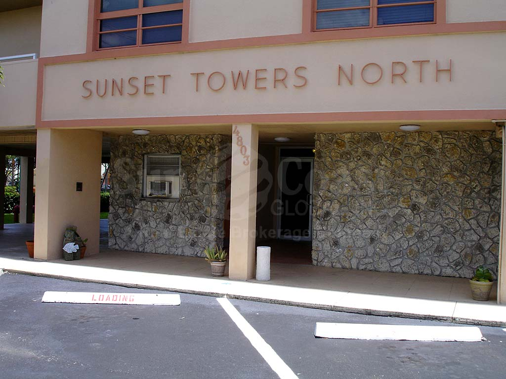 Sunset Towers Signage