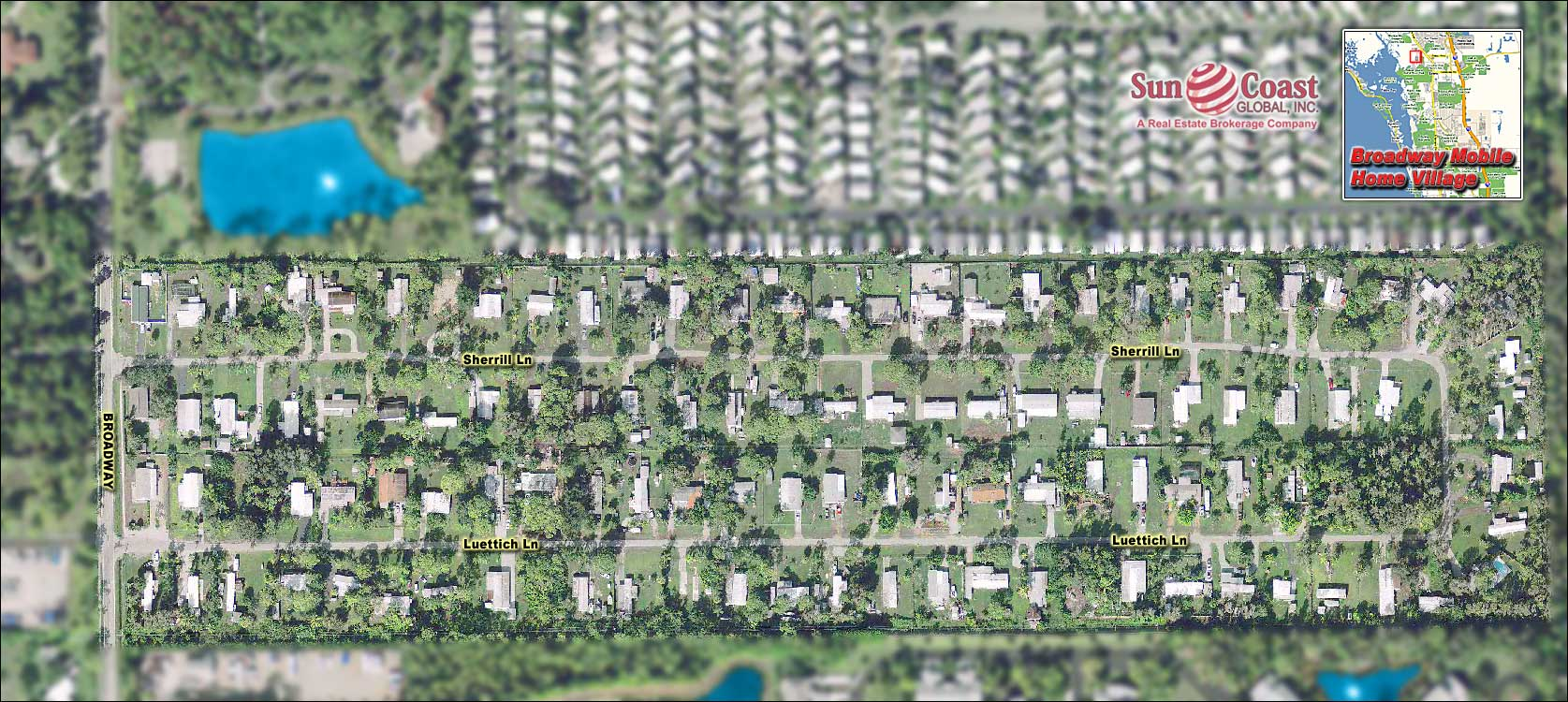 Broadway Mobile Home Village Overhead Map