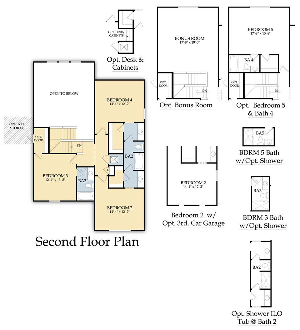 Weatherford Floor Plan in Corkscrew Shores, Estero, By Pulte
