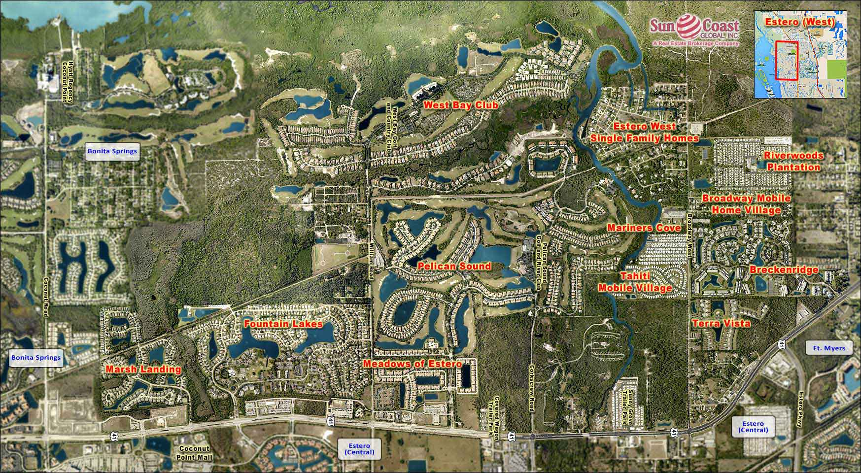 Estero West Overhead Map
