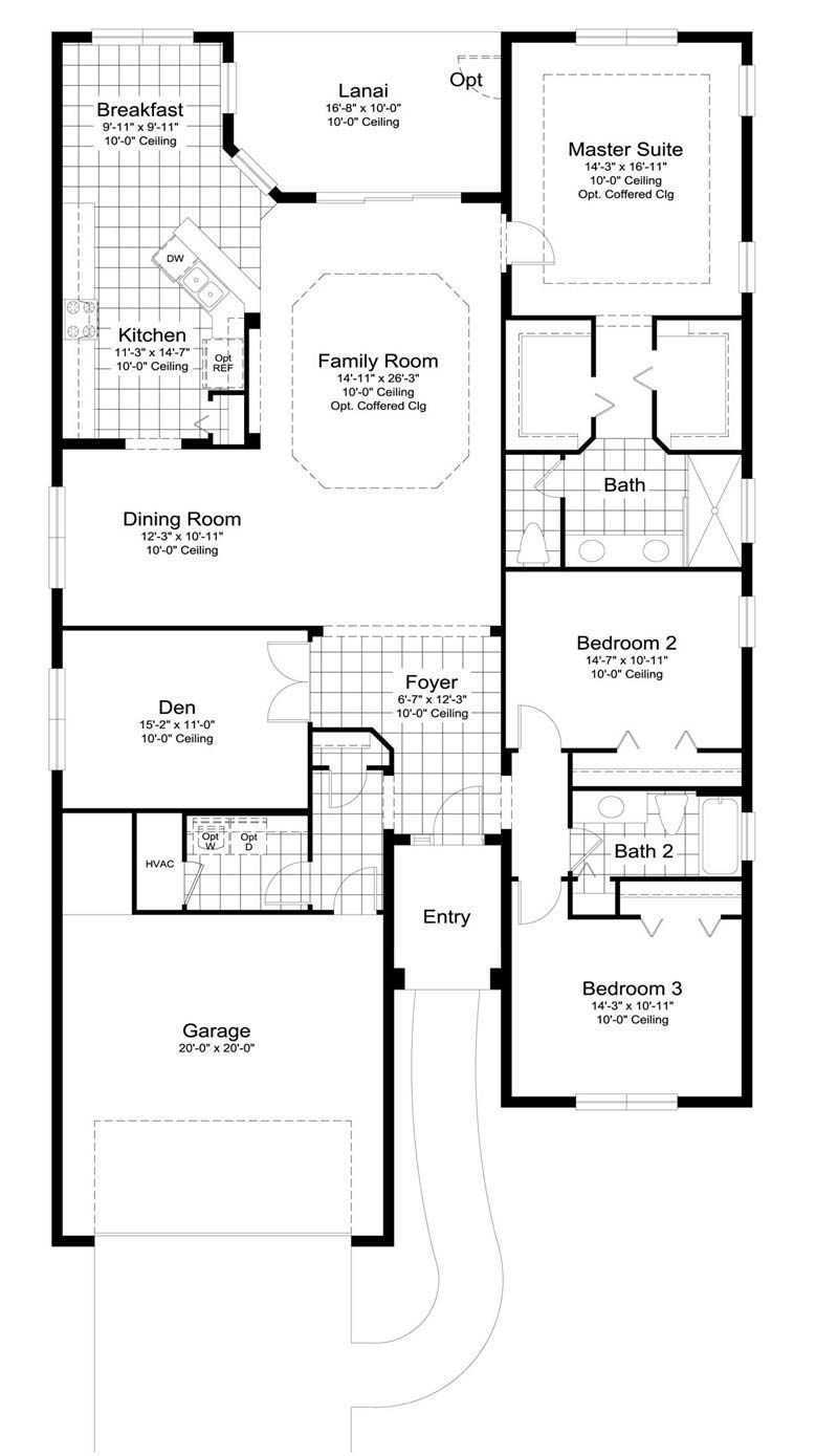 Windsong Floor Plan in Estero Place by Neal Communities