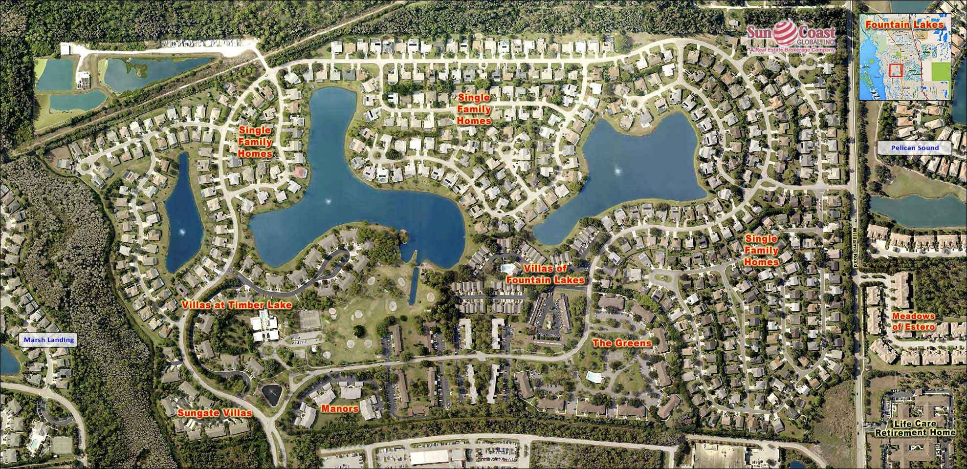 Fountain Lakes Overhead Map