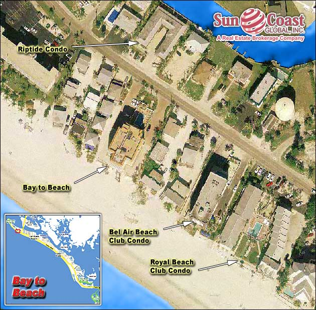 Bay To Beach Condos Overhead Map