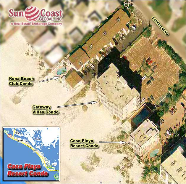 Casa Playa Resort Condo Overhead Map