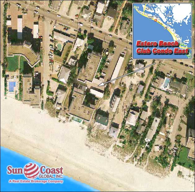 Estero Beach Club Condo East Overhead Map