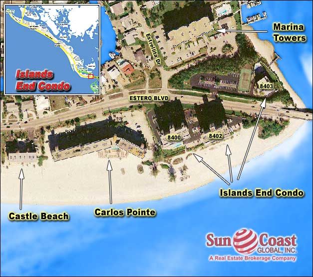Islands End II Beachside Condo Overhead Map