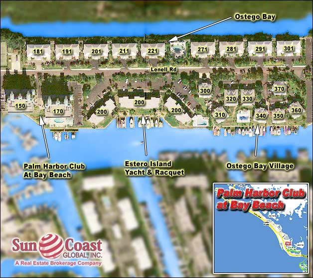 Palm Harbor Overhead Map