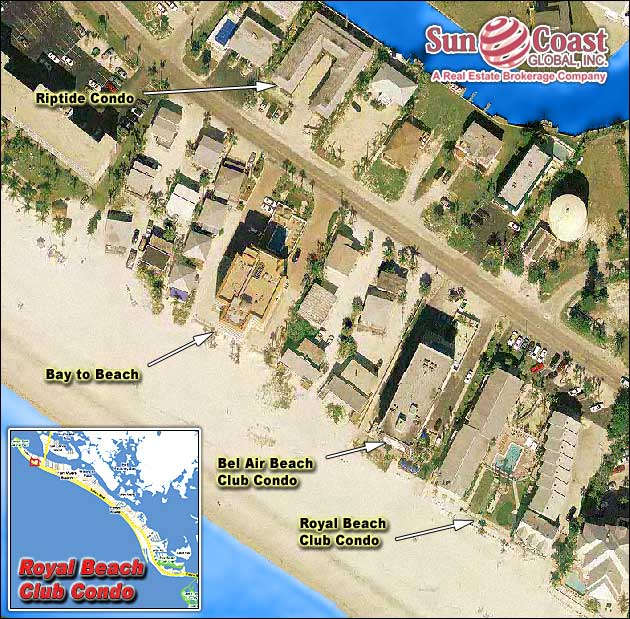 Royal Beach Club Condo Overhead Map