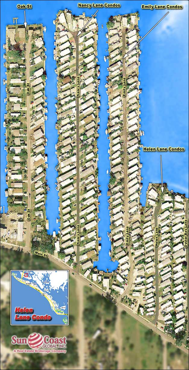 San Carlos Island Mobile Homes Overhead Map