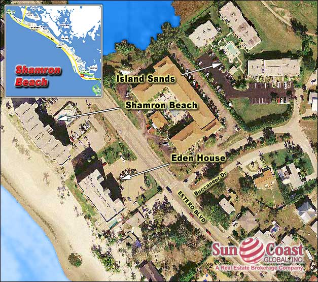 Shamron Beach Condo Overhead Map