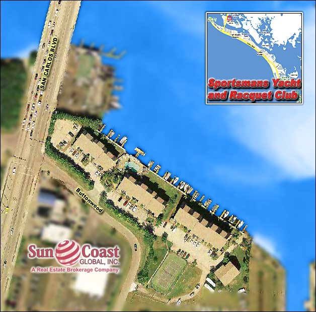 Sportsmans Cove Yacht And Racquet Club Overhead Map