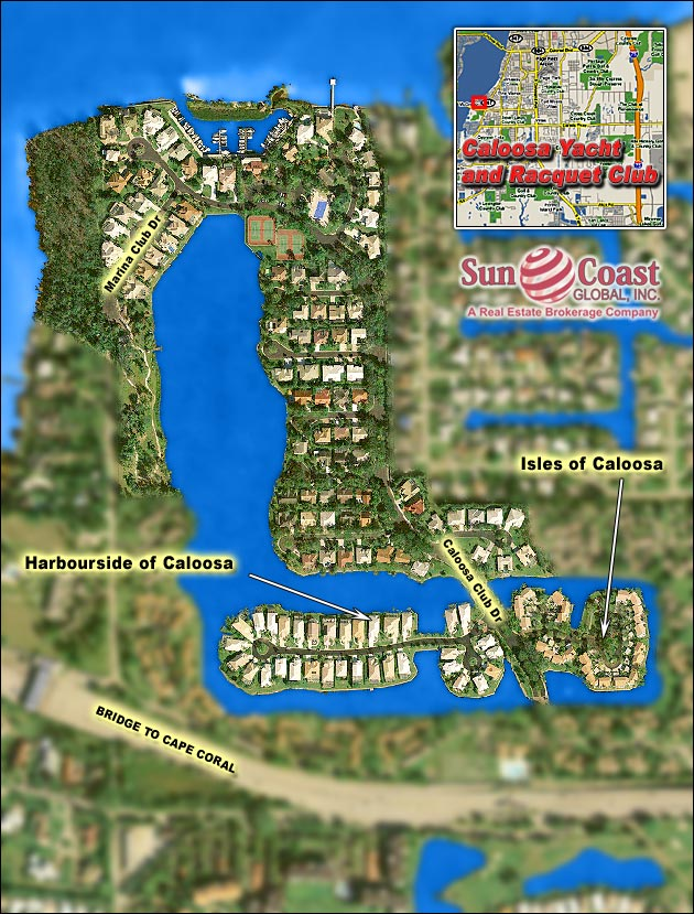 Caloosa Yacht And Racquet Club Overhead Map