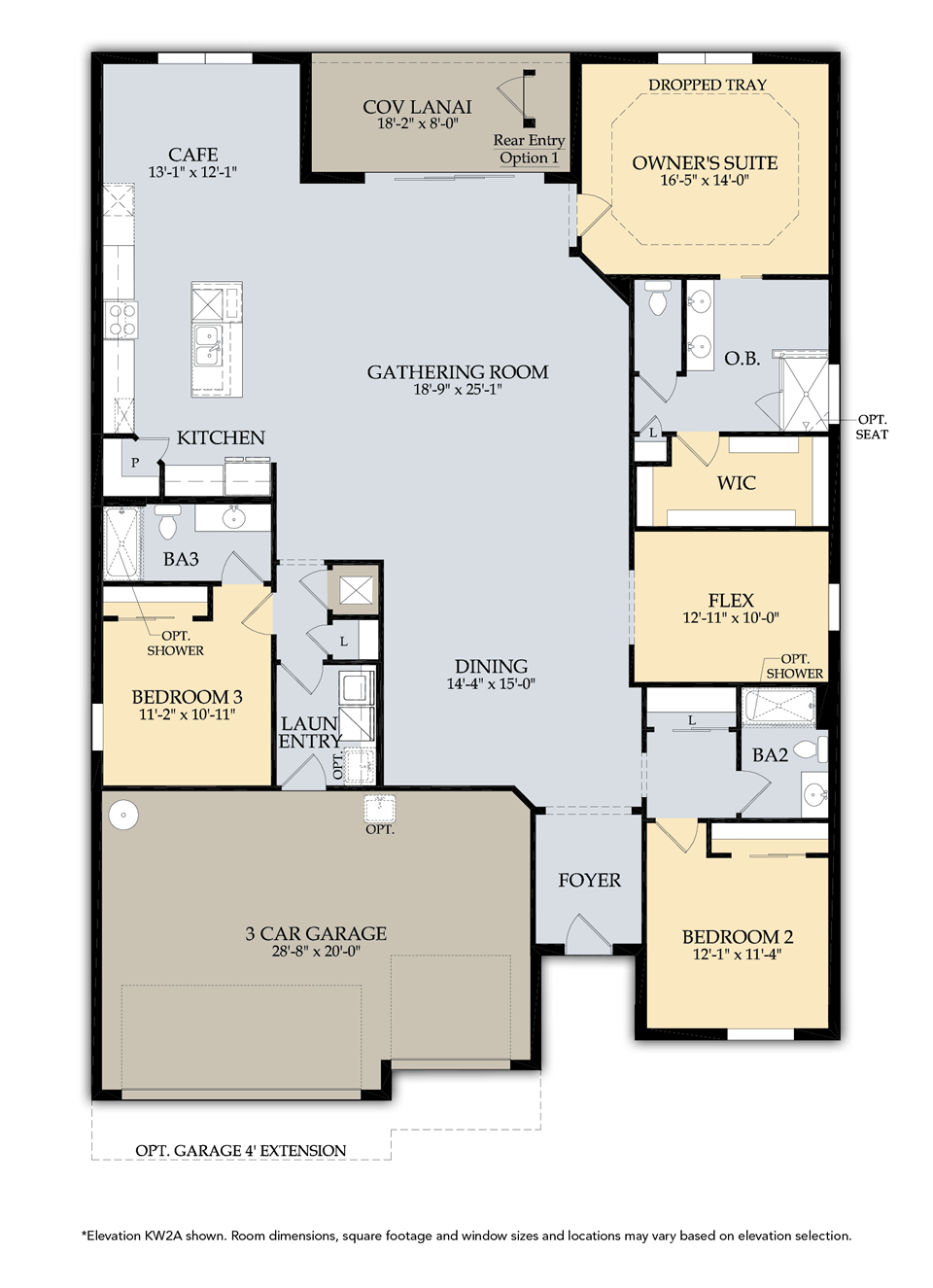 Infinity Floor Plan in Camden Square, Fort Myers, by Pulte, 2,634-3,639 Square Feet, 3-5 Bedrooms / 3-4 Bathrooms, 1-2 Story Home