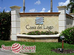 Casa Del Lago Community Sign