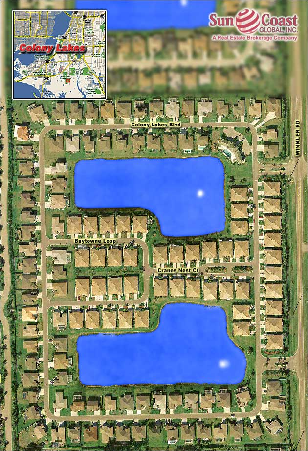 Colony Lakes Overhead Map