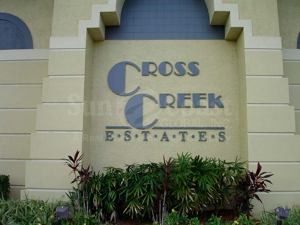 Cross Creek Estates Signage