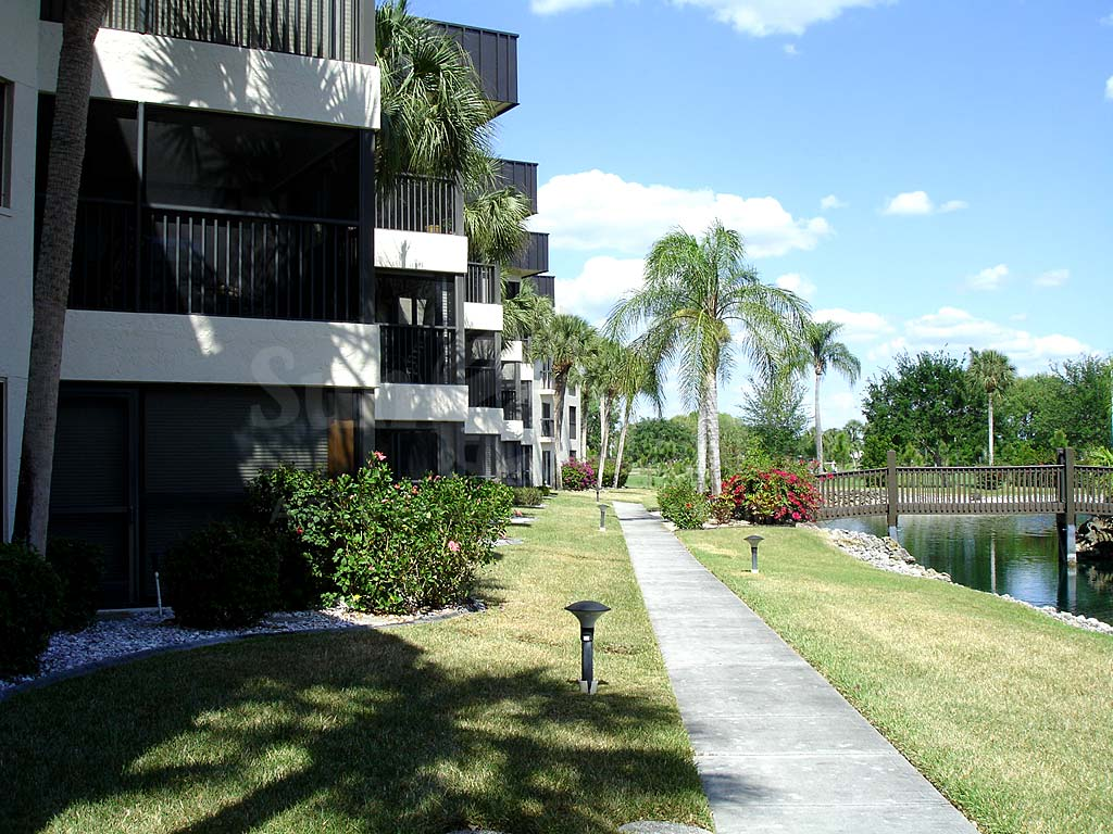 Cypress Waterfront Condos Walkway