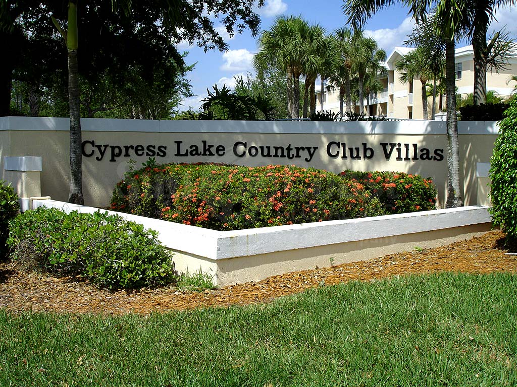 Cypress Lake Country Club Signage