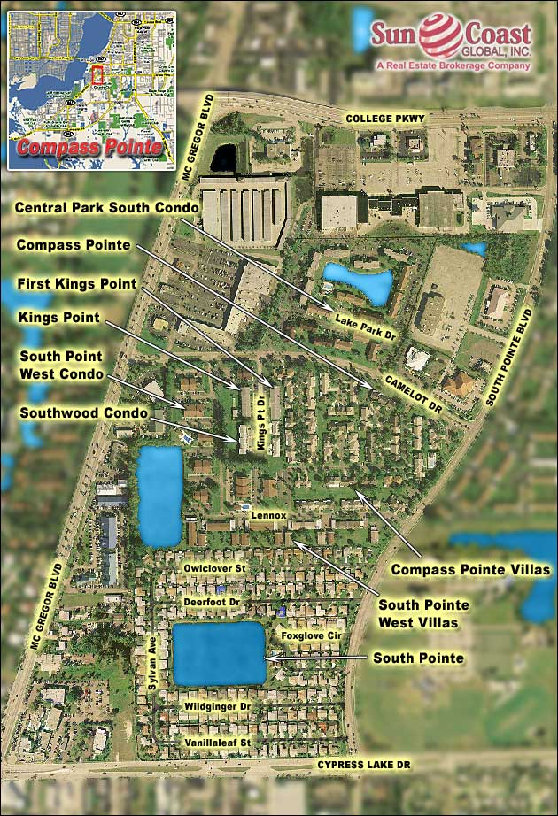 Compass Pointe Overhead Map
