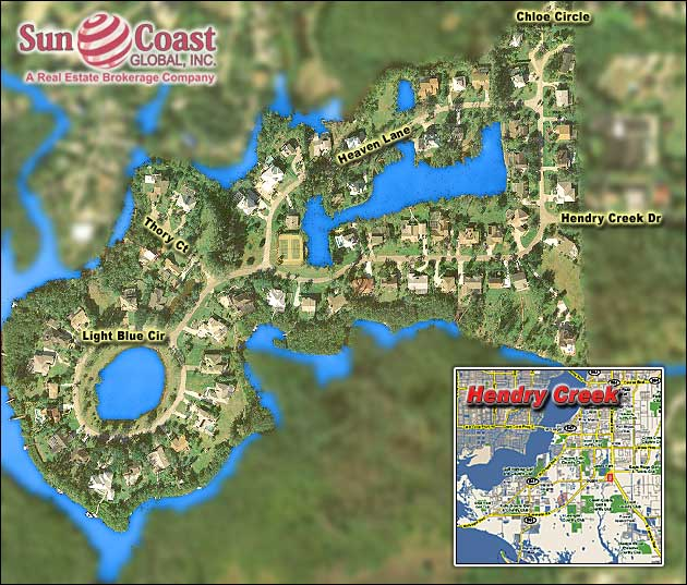 Hendry Creek Overhead Map