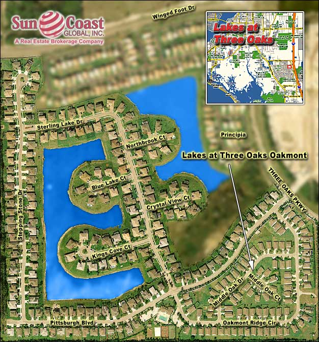 Lakes At Three Oaks Overhead Map