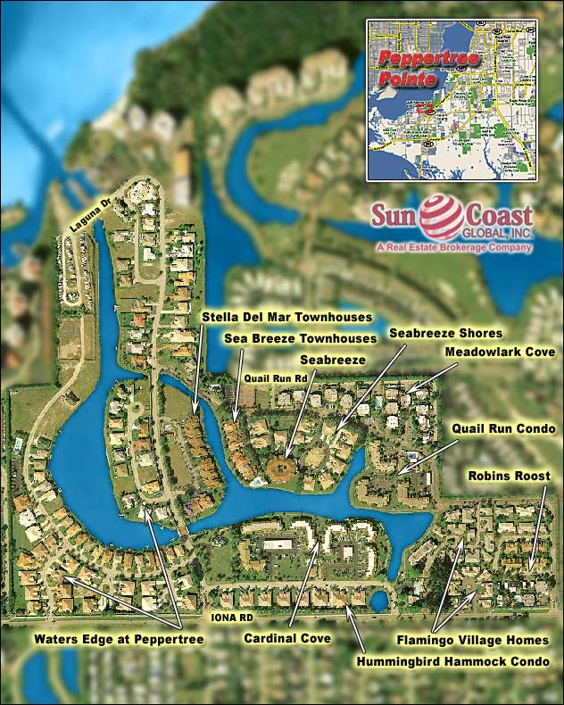 Peppertree Pointe Overhead Map
